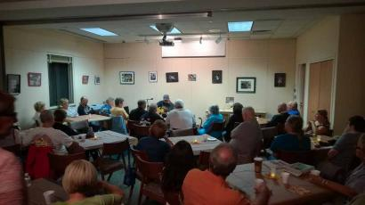 One of many coffeehouse nights sponsored by the Lacey Friends